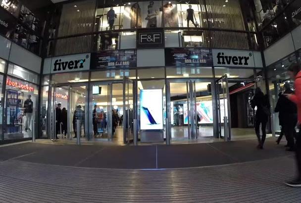 make shopping mall logo mock up video