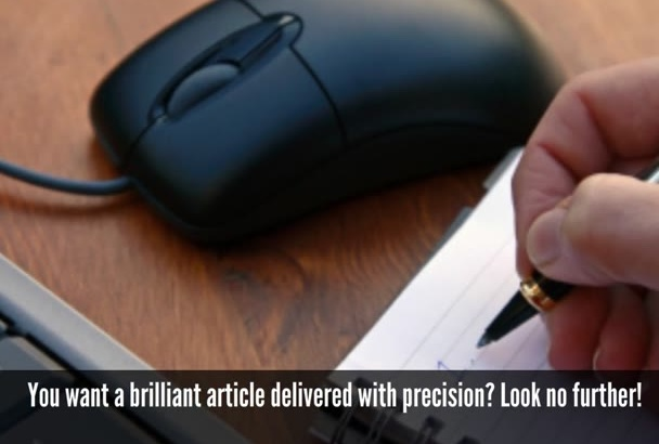 write 500 word well researched  article for you