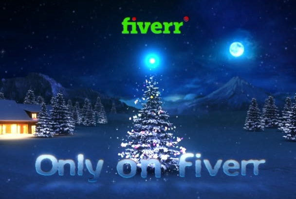 do this Christmas tree greeting message
