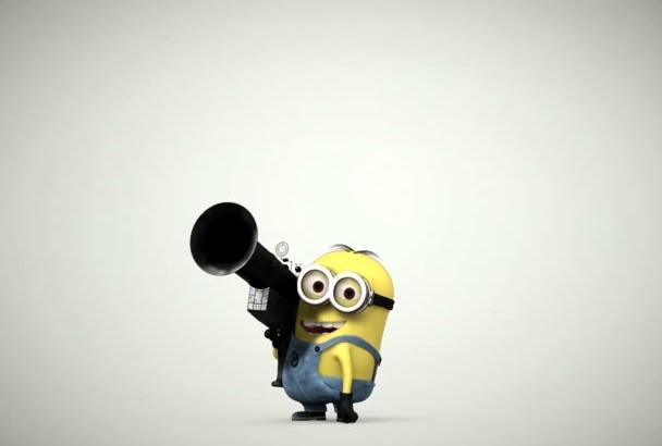 do Funny MinioNs video animation bomb iNTRO