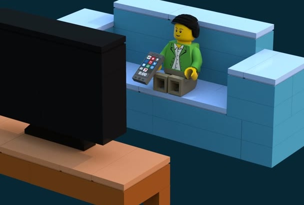 put your logo or messages on this cool lego stopmotion video