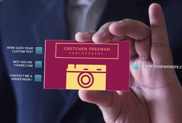 make Business Card Video Presentation