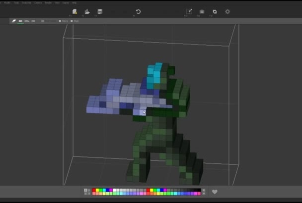 create customized pixel, trixel, hexel or voxel art for you