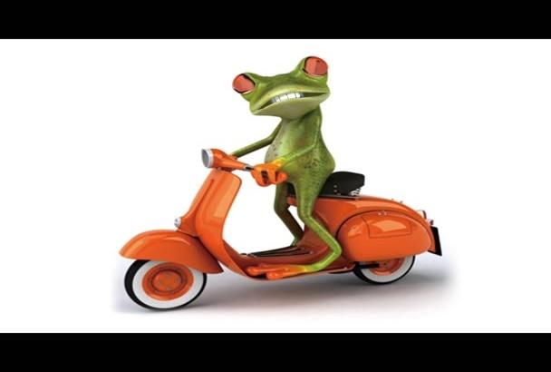 animate frog to say anything