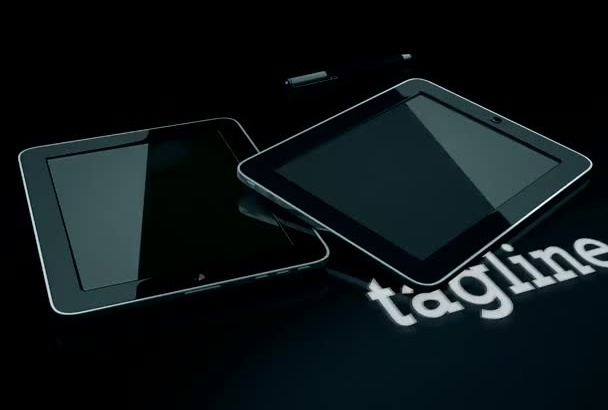 design this tablet intro video for your business
