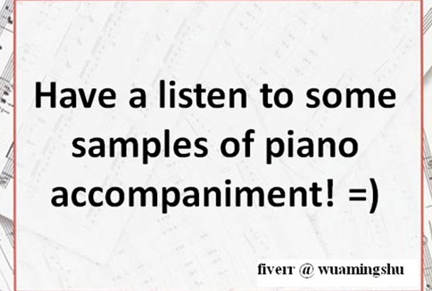 record your piano accompaniment for practice EASY level