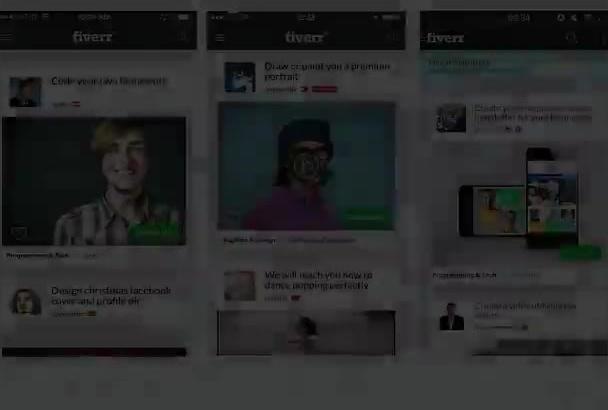 design 3 Elegant 3D Perspective Mobile App Preview in 24h