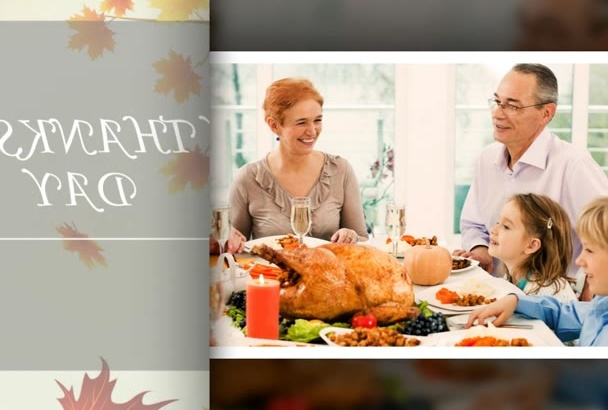 make a video SLIDESHOW for Thanksgiving day