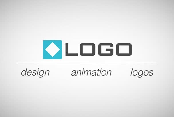 do Clean Animated Business Card Logo Text Modern Video Intro