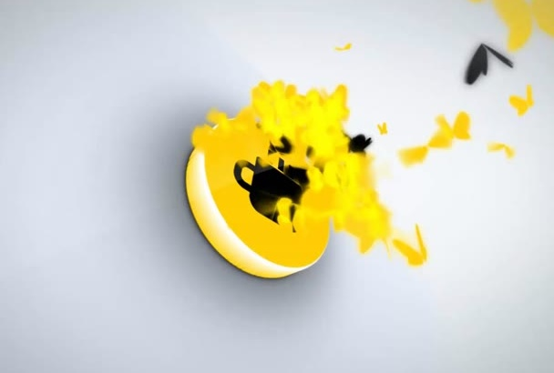 create AMAZING butterfly flap logo animation intro