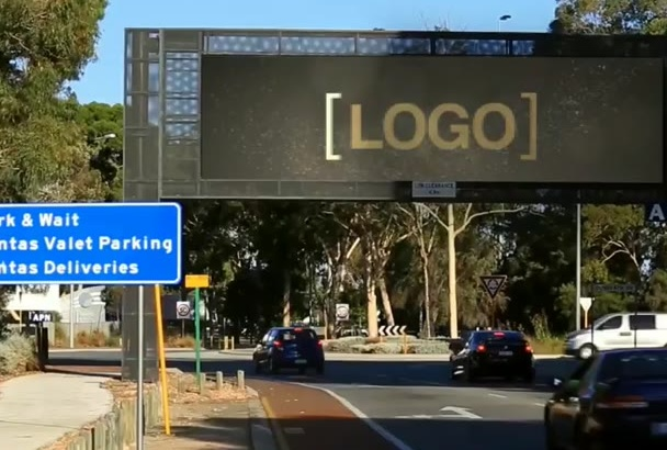 put your Logo on a Real Digital Billboard
