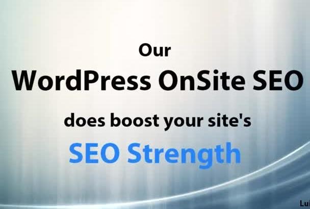 perform OnSite SEO In Your WordPress Website