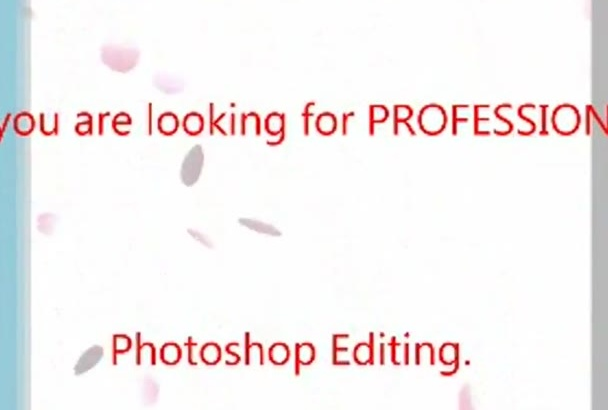 do any kind of professional photo shop editing