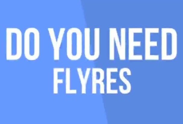 design stunning FLYER, poster in short time
