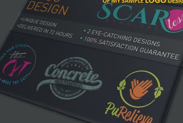design a eye catching logo within twenty four hurs