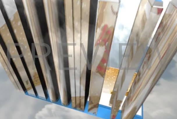 make fabulous sky wall intro for promotions