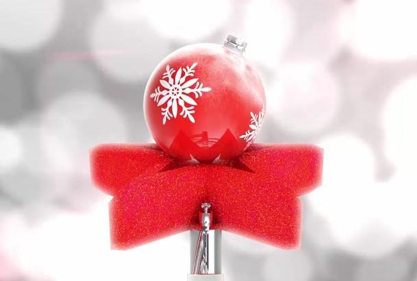 stylized Christmas Greeting video