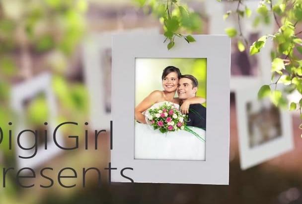 design wedding day, save the date, wedding, anniversary video