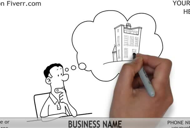 create this Real Estate Whiteboard Video Animation 2