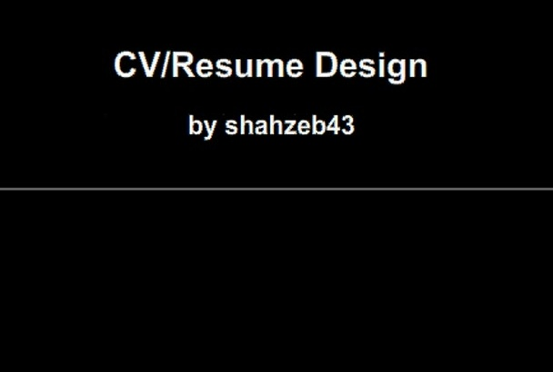 design Cv and Resume for you