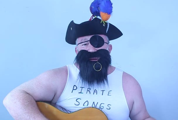 perform a Pirate Happy Birthday shoutout or song