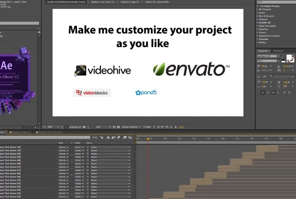 customize or EDIT your after effect template