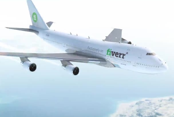 put your Logo on an 3D Airliner