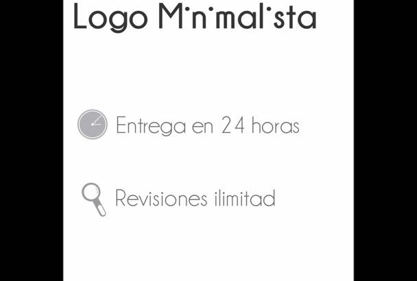 hacer tu logo minimalista