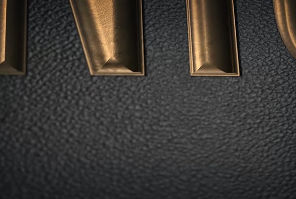 make a GREATEmbossed Black and Gold Video Intro from any logo