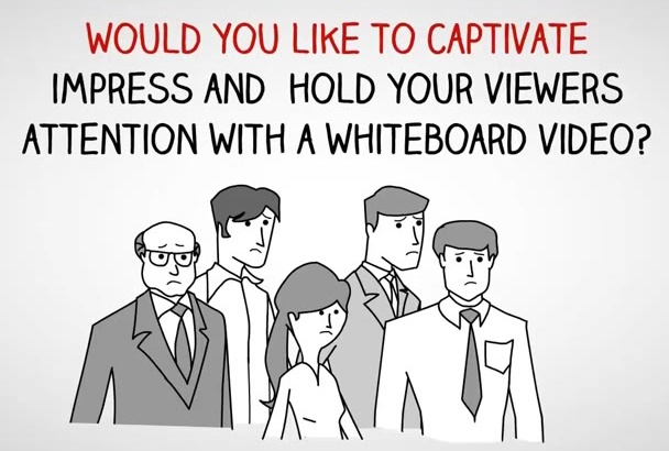 do impressive whiteboard animation video for your business