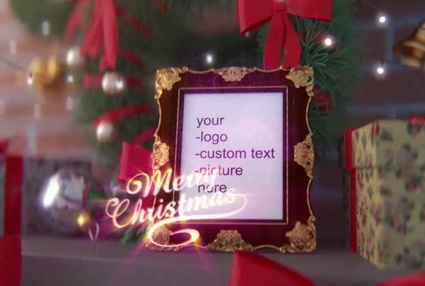 make Christmas Greetings video