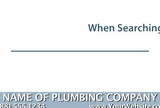 personalize a marketing video for a Plumber