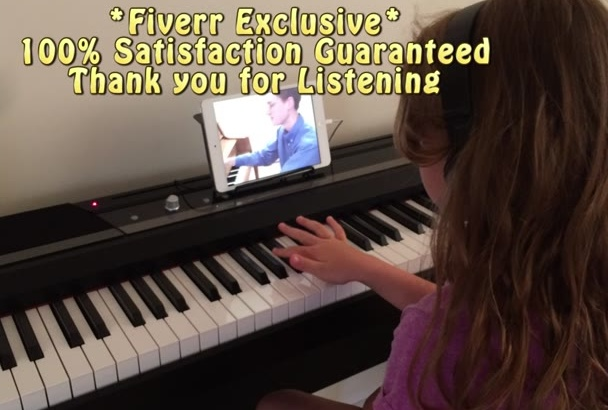 record a Real Child Singing your Song Little Girl Voice