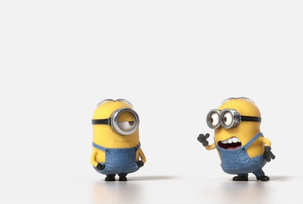 make a Minions HD Video with your Logo appearing at the end