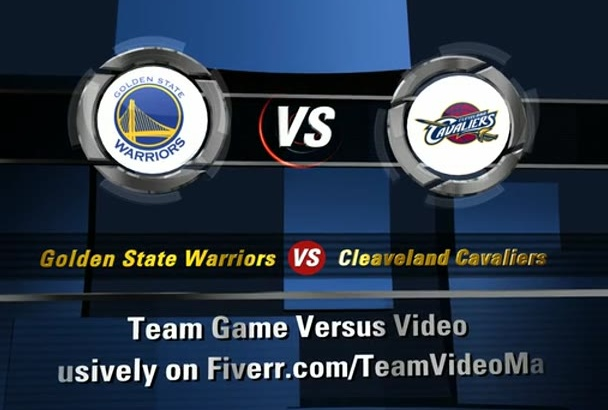 produce a Sport Teams Games VERSUS Video Intro Promotion