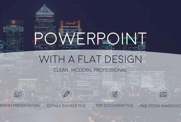 create a PowerPoint or template with a flat design