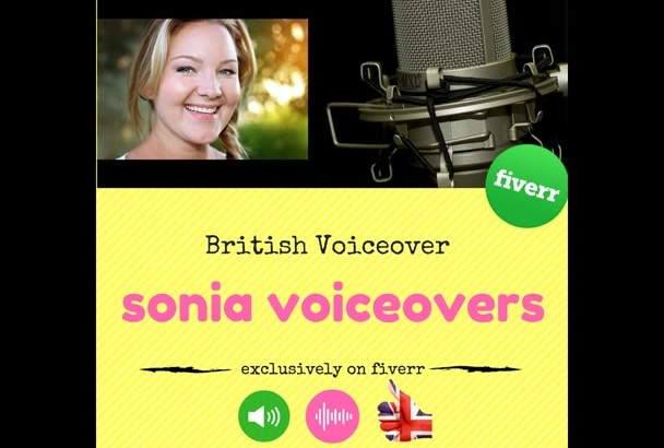 record a British English female voiceover for you