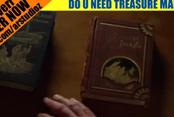 draw your fantasy treasure maps