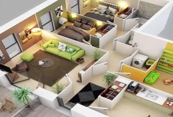 creat Realistic 3D Floor Plan Fastest,High Quality