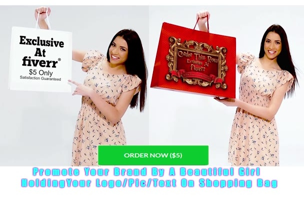 create Young Woman Holding Shopping Bags With Your Logo