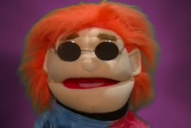 let Cool Hippie Puppet Message Ad Video or Voice Over