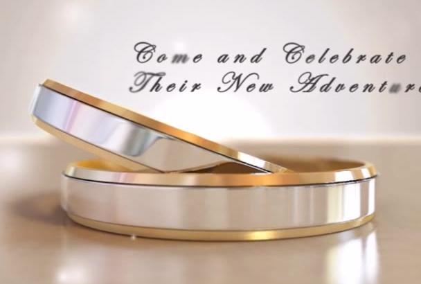 create awesome Wedding Invitation Video