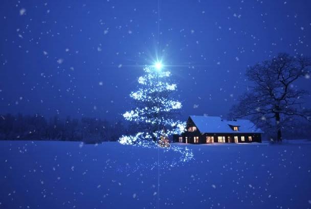 do Christmas animation and prepare you Logo