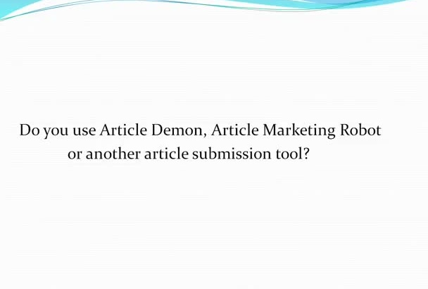 give You My Awesome List of 279,000 Article Directories to be Used with AMR or Article Demon