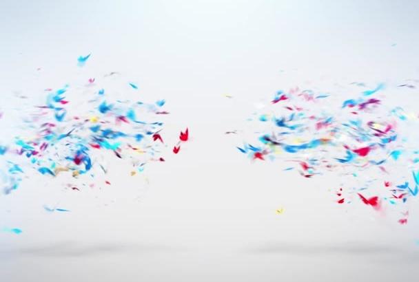 create Logo Opener with Butterflies