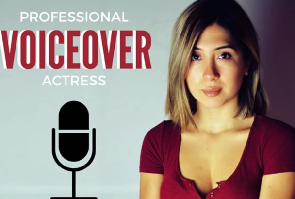 do an american female voice over in 24 hours