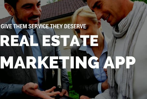 create real estate marketing app
