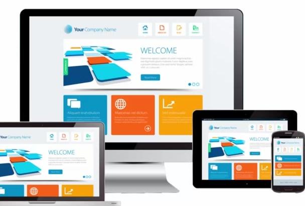 create a Responsive Wordpress  Website