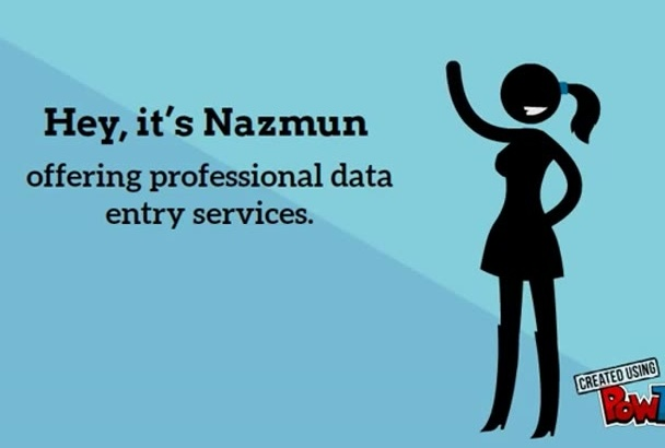 do accurate and speedy data entry work for 7 hours