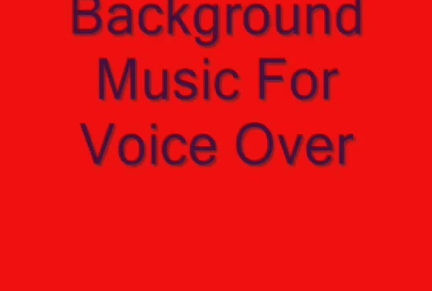 audio background music for voice over and video